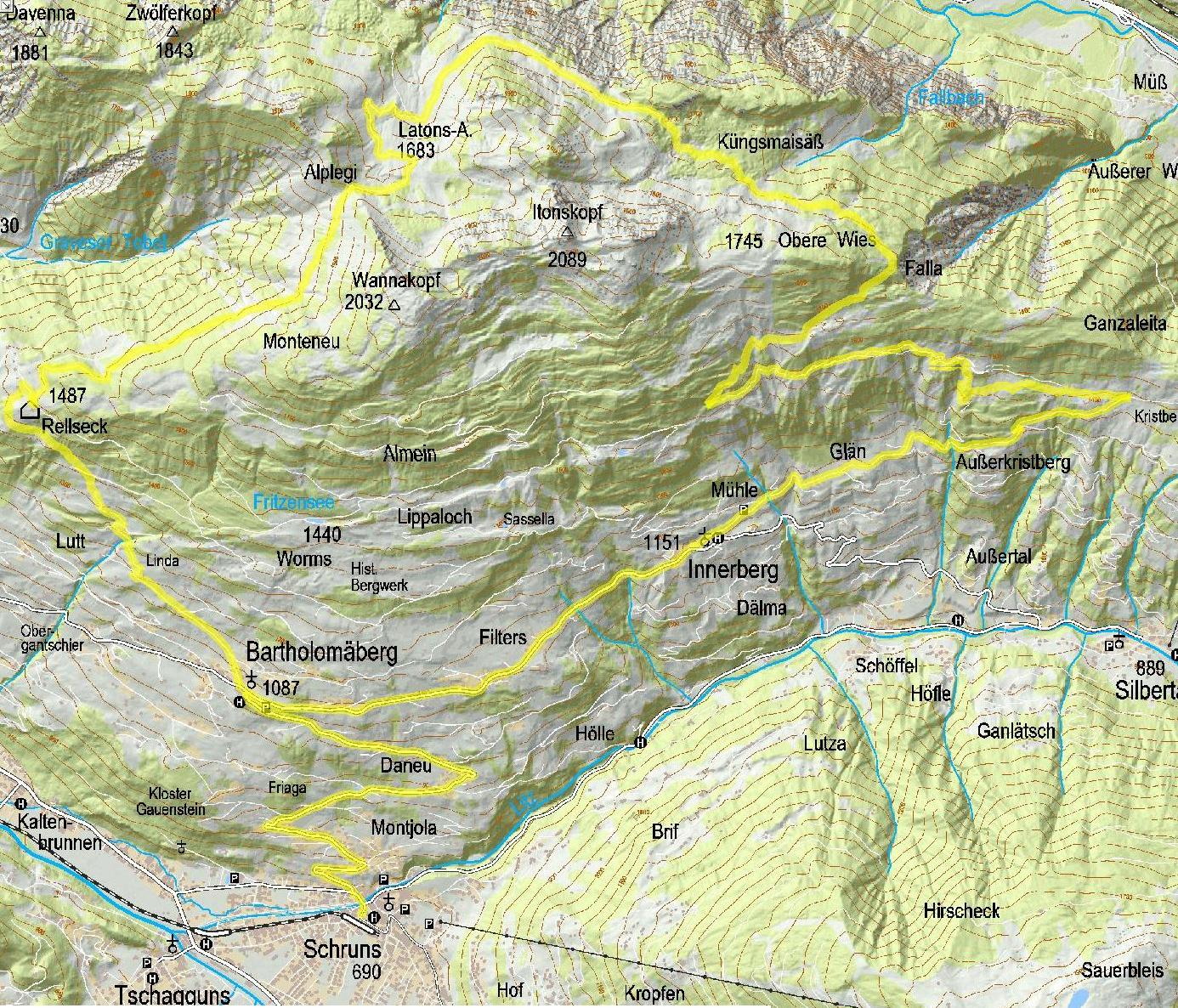 Singletrail Muttersberg Bludenz Nüziders Urlaub in Vorarlberg